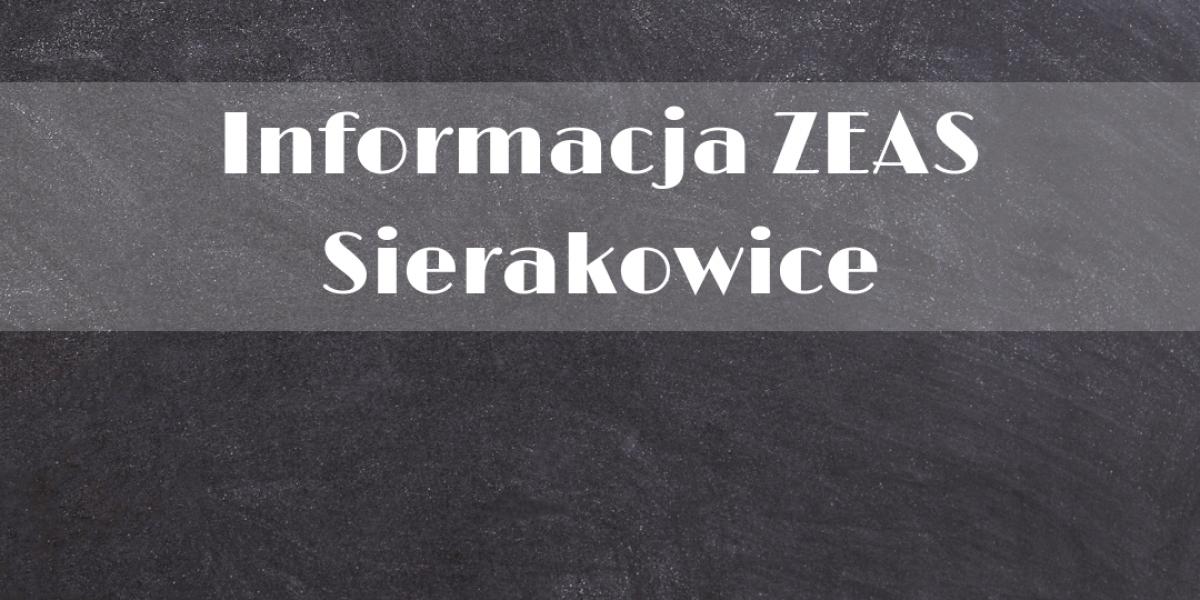 Informacja ZEAS